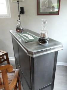 meuble contemporain bois et metal | micheli design répond au ... - Meuble Bar Design Contemporain