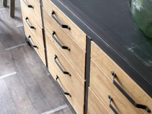 Meuble contemporain bois et metal micheli design r pond au besoin de s 39 - Buffet contemporain bois design ...